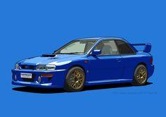 Subaru Impreza 22B STI Type UK Sonic Blue