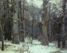 John F. Carlson - Forest Silence (1917). Oil on canvas. 119.4 x 144.8cm.