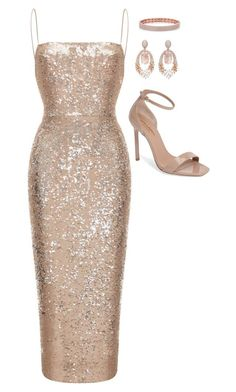 cute party outfits A fashion look from December 2017 by featuring Rasario, Yves Saint Laurent and Hueb Lila Outfits, Nye Outfits, Dressy Outfits, Stylish Outfits, Party Outfits, Elegant Dresses, Pretty Dresses, Beautiful Dresses, Mode Glamour
