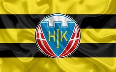 Download wallpapers Hobro fc, FC, 4K, Danish football club, emblem, logo, Danish Super League, football, Hobro, Denmark, silk texture