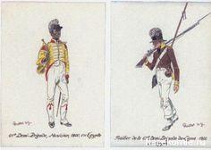 Campagne d' Egypte 1800 61e Demi-Brigade, Musicien Fusilier de la 61e Demi-Brigade de ligne
