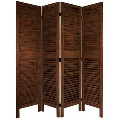 5 1/2 Ft. Tall Classic Venetian Room Divder Burnt Brown Four Panel, Width - 16.5 Inches