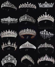 Choose your wedding tiara: Quinceanera Tiaras, Quinceanera Dresses, Sweet 16 Dresses, 15 Dresses, Cute Jewelry, Hair Jewelry, Wedding Tiaras, Quince Dresses, Bridal Crown