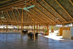 *** This is 1 hour away from Terasol! *** Grand palapa next to the pool at Villas de Cerritos. Great for parties & events. Golden Garden, Bamboo Architecture, Tiki Bars, Garden Cafe, Thatched Roof, Beach Vacation Rentals, Rattan Furniture, Beach Club, Luxury Villa