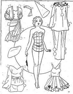 Mostly Paper Dolls: October 2011 Paper Toys, Paper Crafts, History Of Paper, Paper Dolls Clothing, Paper Dolls Printable, Art Folder, Vintage Paper Dolls, Barbie, Retro Toys
