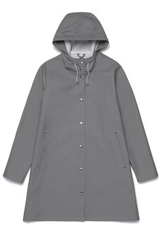 Mosebacke Grey - Woman – Stutterheim Raincoats #RaincoatsForWomenGray