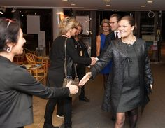 Princess Victoria and Prince Daniel attended a aid concert
