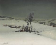 Valerius De Saedeleer, A Winter Landscape