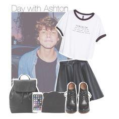 """Day with Ashton"" by antisocialmuke ❤ liked on Polyvore featuring MSGM, H&M, MANGO, NIKE, Forever 21, Givenchy, day, ashtonirwin, ashton and Irwin"