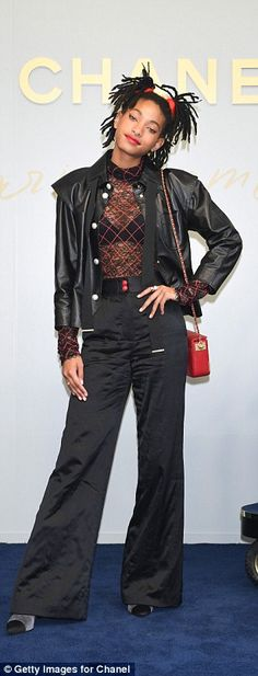 Quirky: Willow Smith showed off her stand-out style as she joined the models