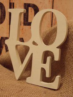 Large Cream Wooden Cut Out Love Letters, Shabby Chic Style, Love Letters, Symbols, Rustic, Cream, Country Primitive, Creme Caramel, Cartas De Amor, Retro
