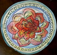 """""""Flower Mandala"""" - watercolor and ink"""