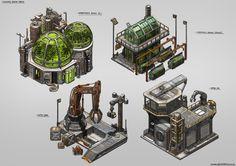 ArtStation - Isometric Game Concepts, Nicholas Lim