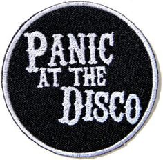Put the patch on the place on the item you want to attach the patch to. Panic At The Disco Embroidered Badge Patch. Protect patch surface with damp cloth and ironon with high temperature then press the ironer over the patch for seconds about times. Band Patches, Cute Patches, Pin And Patches, Sew On Patches, Iron On Patches, Denim Jacket Patches, Patched Jeans, Grunge Goth, Estilo Rock