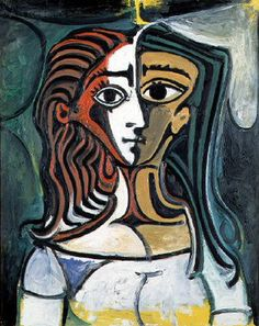 Picasso- Buste femme deux - 1940 art portraits paintings Still Life abstract cubism artwork drawing artist Art Picasso, Picasso Paintings, Matisse Paintings, Georges Braque, Henri Matisse, Arte Latina, Cubism Art, Art Moderne, Klimt