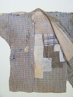 BORO textiles of japan Textile Texture, Art Textile, Textile Design, Boro Stitching, Hand Stitching, Cuir Vintage, Vintage Denim, Visible Mending, Make Do And Mend