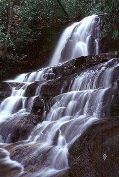 Great Smoky Mountains National Park Waterfalls: Laurel Falls