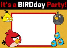Scrapbook style printables free rock climbing birthday party free angry birds invitations bird party7th birthdaybirthday pronofoot35fo Image collections