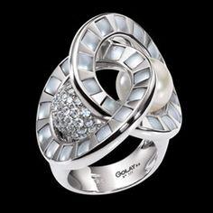 Louis Golay Magic Circles Pearl Ring