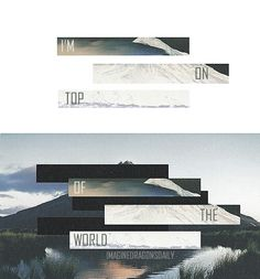 On the top of the world- imagine dragons