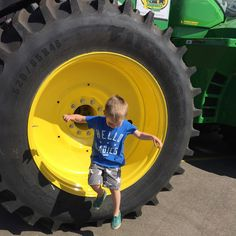 Who needs rides at the fair when there are ginormous tractor tires to jump from!!! #lululovesndsf #prefresh #tractor #nativeshoes #johndeere