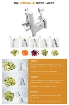 VeggieSpize 5 Blade Spiralizer Veggie Spaghetti, Spaghetti Noodles, Vegetable Slicer, Kitchen Fixtures, Zucchini Noodles, New Tricks, Spiral, How To Memorize Things, How To Make