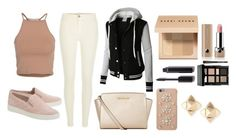 """Untitled #43"" by valeriatrujillog on Polyvore featuring NLY Trend, River Island, LE3NO, MICHAEL Michael Kors, Bobbi Brown Cosmetics, Marc Jacobs, Valentino and Chanel"