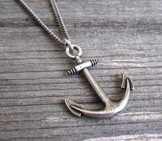 Herren  Männer-Anker-Kette  Halskette Herren Silber
