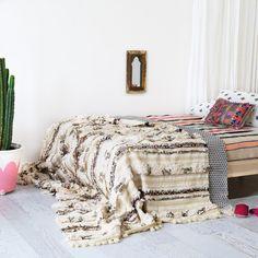 Vintage Moroccan Wedding Blanket Handira