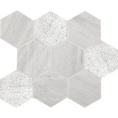 """American Olean Ascend Candid Heather 4"""" Hexagon Mosaic and a wide selection of Natural Stone Tile Flooring."""