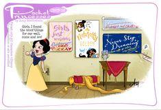 Disney Princess Costumes, Disney Princesses And Princes, Pocket Princesses, New Pocket Princess, Pocket Princess Comics, Disney Jokes, Funny Disney, Disney Girls, Disney Disney