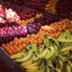Early morning fruit shopping