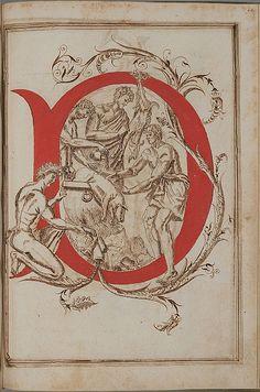 Letter 'D' -  Opera dianto nella quale vedrete molte caratteri di lettere  - Antonio Schiratti - 1600-1615 by peacay, via Flickr