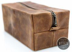 Dopp Kit, Leather Toiletry Bag