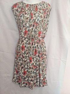 Candie's Dress Size XS Soft Rayon Floral Print Scoop Neck Elastic Waist Bubble H #Candies #Bubble #Casual