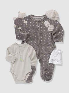 Conjunto de 5 peças e saco, para recém-nascido