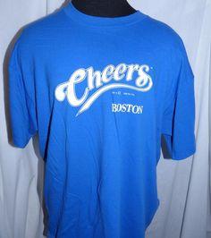 Vintage Cheers Boston Shirt TV Comedy Show Size Comedy Tv, Comedy Show, Cheers Boston, Vintage Rock Tees, Size Chart, Graphic Tees, Mens Tops, T Shirt, Fashion