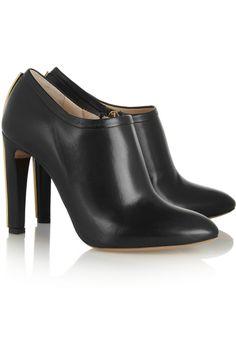 Chloé|Embellished leather ankle boots|NET-A-PORTER.COM