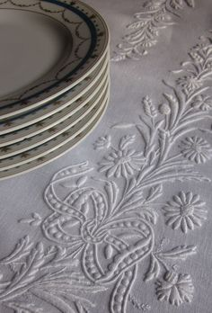 White Linen Embroidery ~ White Nights Tuesday, March 26, 2013. The design is taken from the JF Ingalls catalog at 1886