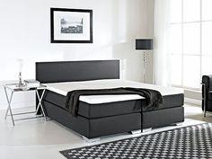 Luxe Boxspringbed - 180x200 cm - Gestoffeerd - PRESIDENT zwart ✓ Koop nu online en betaal later. Gratis bezorging en retourneren