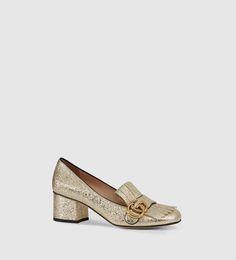 Gucci - metallic mid-heel pump 408208DKT007100