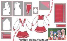 Lucky Star Seifuku Cosplay Design Draft by Hollitaima.deviantart.com on @deviantART