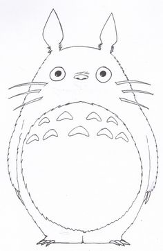 LineArt Totoro by SilverU121 on DeviantArt