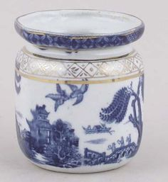 Booths - Real Old Willow - Jam or Preserve Pot c1920s