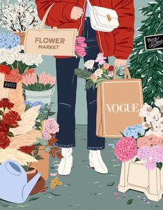 Illustration for Vogue Spain Illustration Noel, Graphic Illustration, Graphic Art, Beauty Illustration, Art Illustrations, Aesthetic Art, Aesthetic Anime, Poster Prints, Art Prints