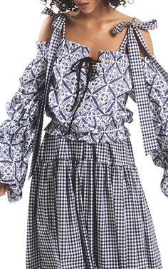 Elle Tiered Maxi Dress by CAROLINE CONSTAS Now Available on Moda Operandi