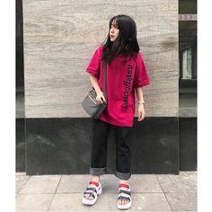 Korea Fashion, Daily Fashion, Teen Fashion, Fashion Outfits, Swag Outfits, Casual Outfits, Simple Outfits, Cool Outfits, Korean Summer Outfits