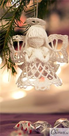 no pattern angel hair inspiration Christmas Angel Ornaments, Crochet Christmas Decorations, Crochet Ornaments, Crochet Decoration, Holiday Crochet, Crochet Snowflakes, Crochet Angel Pattern, Crochet Angels, Crochet Patterns
