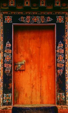 Image result for Painted door, Santa Fe, New Mexico