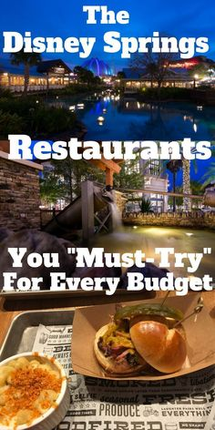 Disney Springs Restaurants - Our Top Picks and Must-Do Offerings - - Restaurant Disney, Best Disney World Restaurants, Orlando Restaurants, Walt Disney World Vacations, Disney Trips, Disney Parks, Orlando Disney, Family Vacations, Family Travel